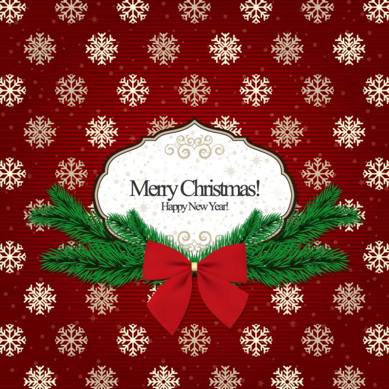 Рождественские открытки вектор 99